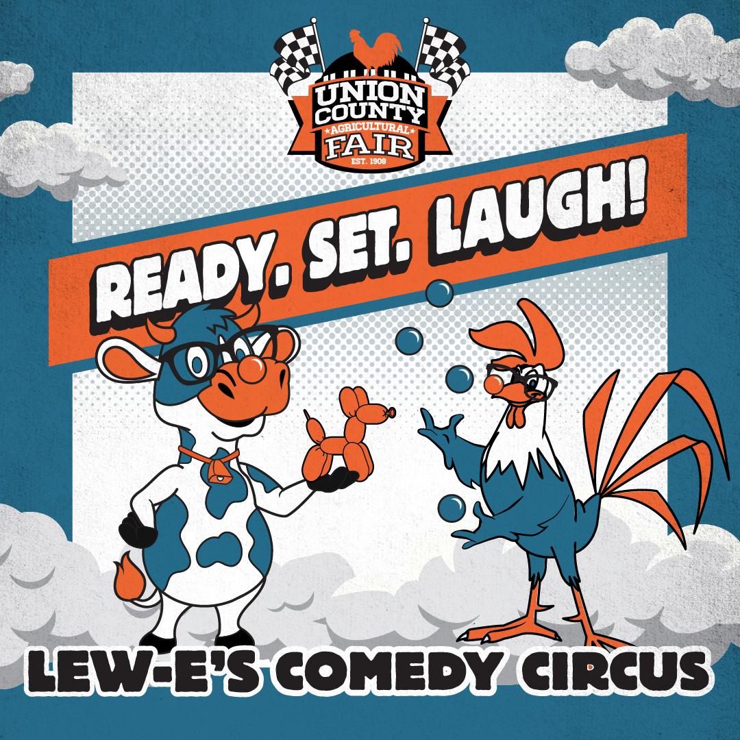 UNIO-21007CR-Ready Set Go Social Squares_Lew-E's Comedy Circus